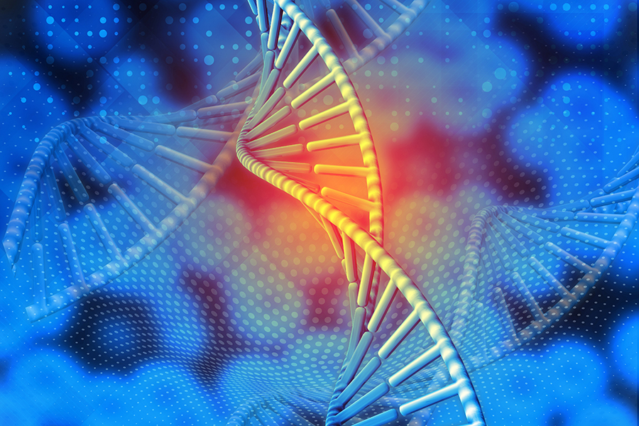 3D medical DNA background