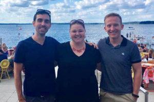 Abigail Besemer, David Dunkerley, and Brendan Barraclough at Memorial Union Terrace, Summer 2017