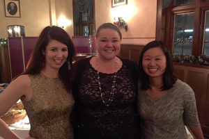 Kate Mittauer, Abigail Besemer, and Jessie Huang-Vredevoogd at 2016 Holiday Party